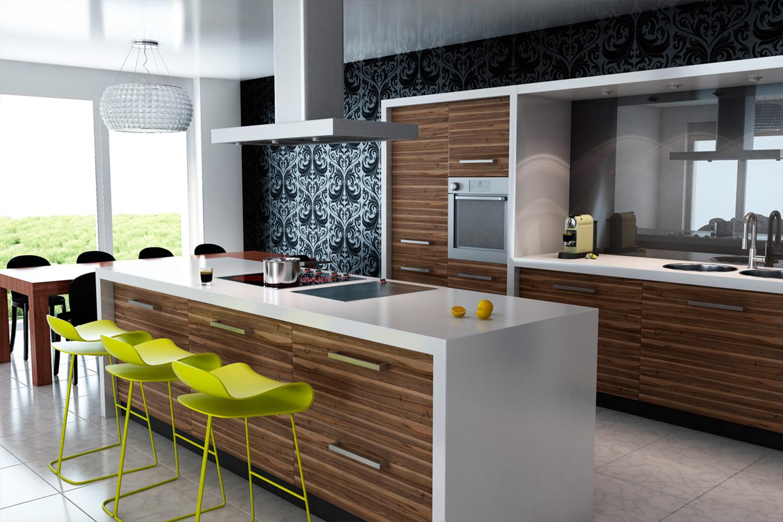 Кухни дизайн 2017-2018 угловые